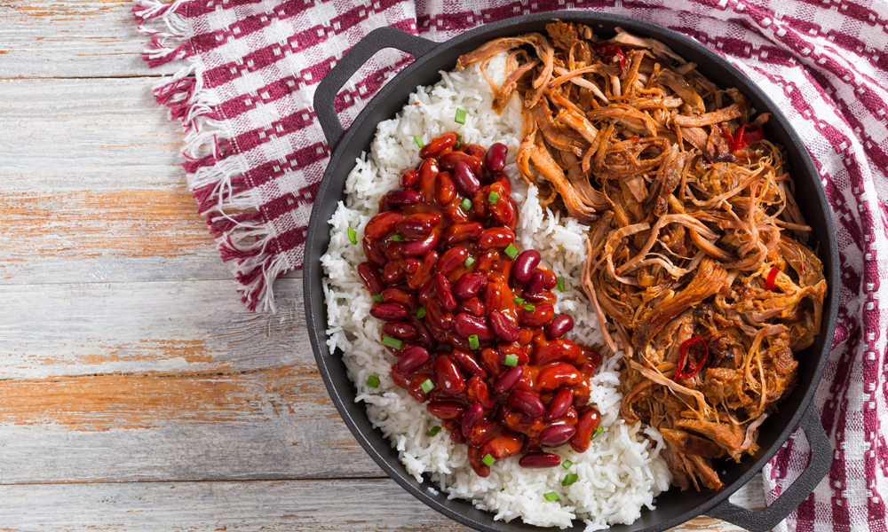 Pulled Pork on Rice