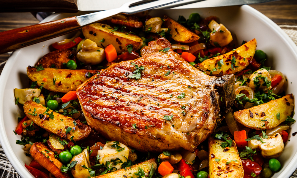 Pork Chops and Carrots