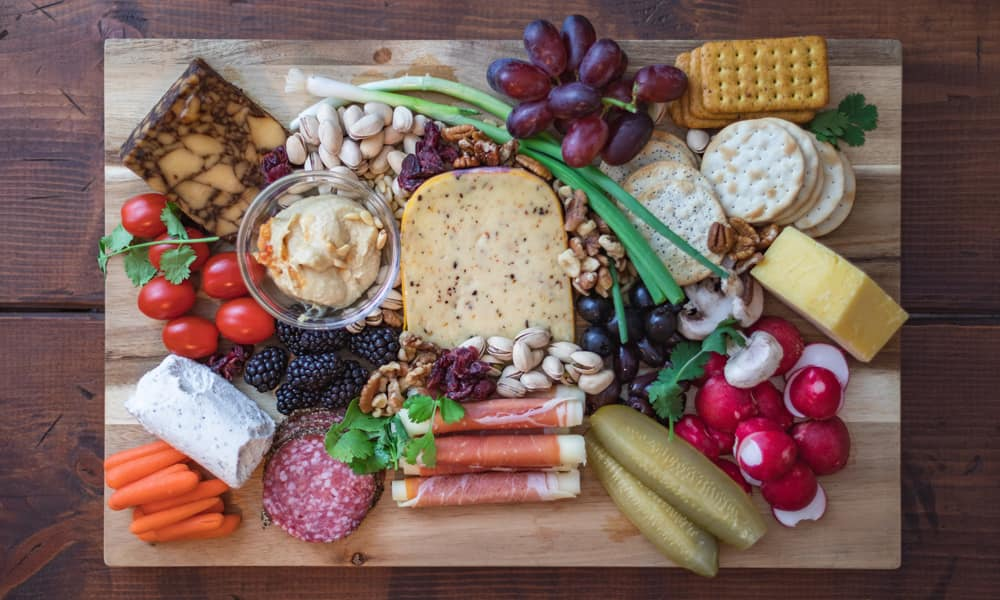 Crackers, Cheese, Meat, and Nuts